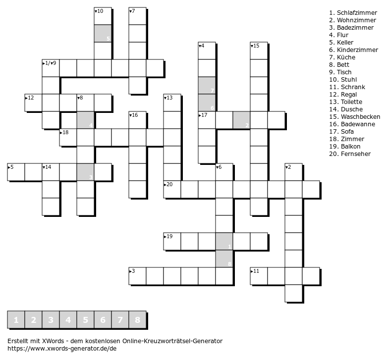 Leichte Kreuzworträtsel Online